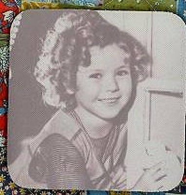 SHIRLEY TEMPLE Rubber Backed Coasters #0514