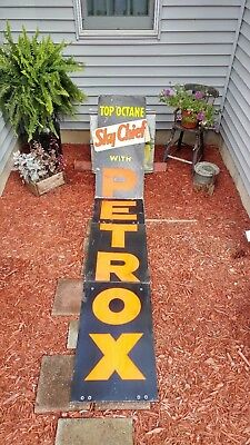Authentic Vintage Texaco Sky Chief Gas Station Pump Advertising Banner Sign!