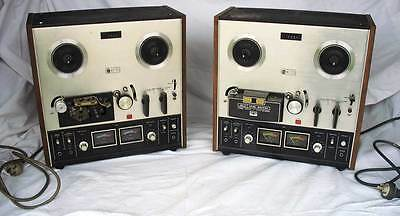 TWO Vintage AKAI Tape Recorder GX 210D - antique reel to reel player - Melb
