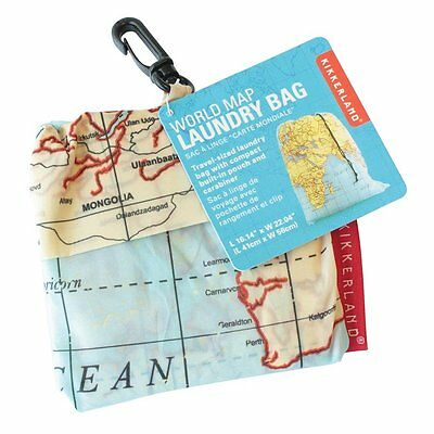 World Map Travel Dirty Laundry Bag Clothes Keeper Traveller Backpacking