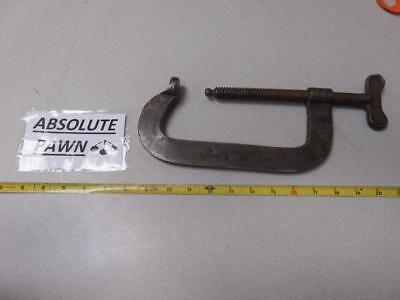 "HARGRAVE  No44 US MADE FORGED STEEL 6"" C CLAMP AIRCRAFT MACHINIST TOOL"