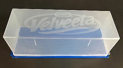 Kraft Velveeta Vtg Cheese Keeper Container Storage Blue 2 Pounds