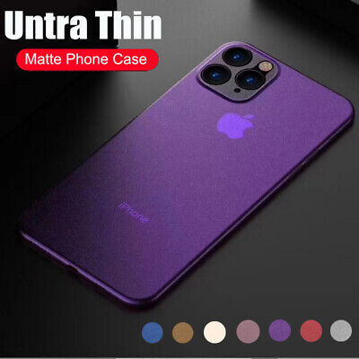 For iPhone 11 Pro Max XS XR X 8 7 Plus Ultra Thin Matte Clear Hard PC Case Cover