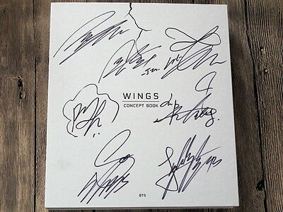 Signed BTS Autographed 2017 WINGS CONCEPT BOOK official limited korean ver K-pop