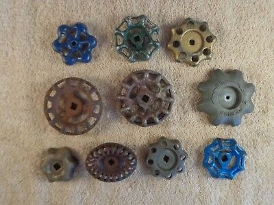 10 Vintage Antique Water Faucet Knob/valve Handles Steampunk Industrial Art