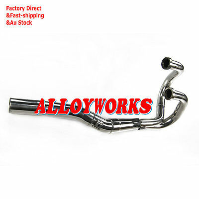 S/S Exhaust Head Header Pipe For Honda XR600 R 91-00 92 XR650 L 1993-2013 AW