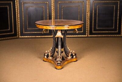MAJESTIC MAGNIFICENT Table with Dolphins in the Empire Style 1815