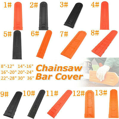 "Black/Orange Universal Chainsaw Bar Cover Scabbard Protector Guide Plate 8""-36"""