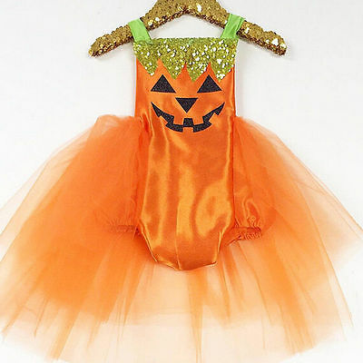 AU Stock Halloween Baby Girls Kids Romper Jumpsuit Bodysuit Dress Clothes Outfit