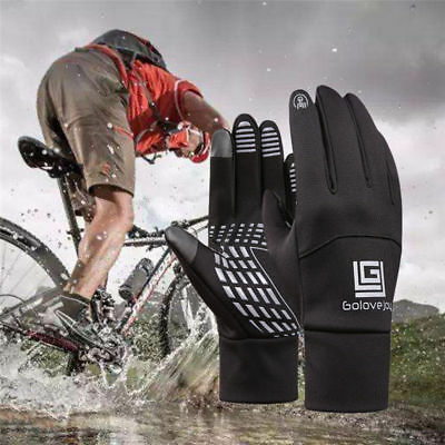 Cycling Winter Cold Weather Gloves Waterproof Windproof Full Finger Men Women