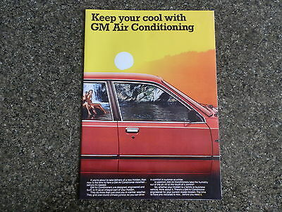 1980 Holden Commodore Vb/vc Air Cond  Brochure