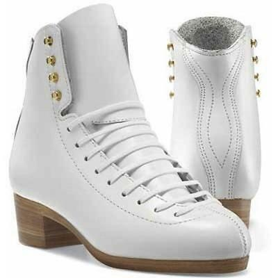 """Graf """"EDMONTON SPECIAL"""" White Leather Boot for Ice/Figure Skating NEW"""