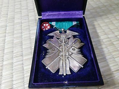 WW2 JAPANESE Silver Order of GOLDEN KITE 6th Class MEDAL BADGE ARMY NAVY A01