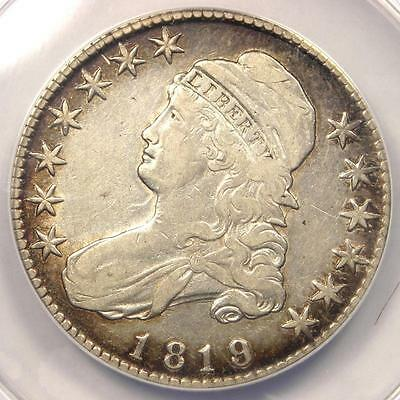 1819/8 Capped Bust Half Dollar 50C O-105 - ANACS VF35 Details - Rare Overdate