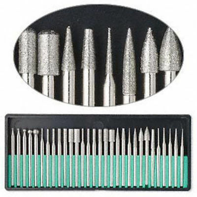 New 30x Garden Diamond Burr Bit Set for Dremel Rotary Tool 150 Grit Glass Stone