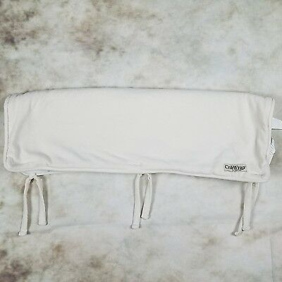 Crib Wrap by Trend Lab Short Rail Cover for Wide Rail Ivory