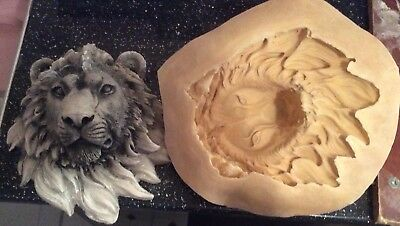 Mould To Make Lion Head Wall Plaque, Garden or Home, Latex Arts & Craft, Hobby