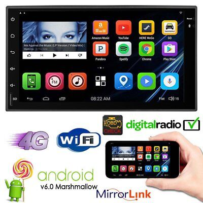 """7""""Android 6.0GPS Bluetooth Lecteur stéréo voiture Touch Screen USB Camera"""