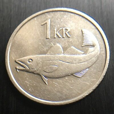 Iceland 1994  1 Krona Coin 21.5 Mm Diameter Cod Fish