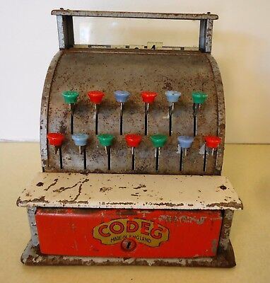 "Original Vintage ""Codeg"" Toy Cash Register - Circa 1950s - 60s"
