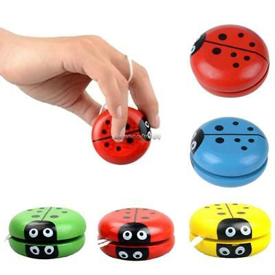 New High Speed Wooden Insect Cute YoYo Ball Toys For Kids Party Entertainment SU
