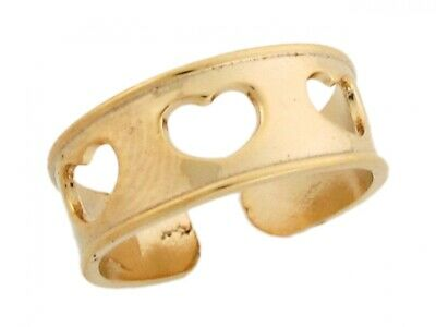 10k or 14k Yellow Real Gold Alisee Pattee Cross Solid Band Womens Toe Ring
