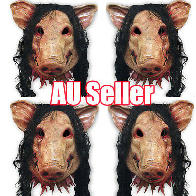New Adult Halloween Pig Head Face Mask Costume Party Accessory Fancy Scary BO