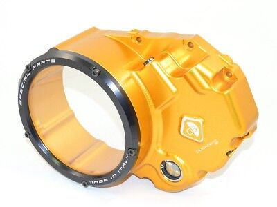 Ducabike Ducati Monster 1200 Clear Clutch Cover - Gold-Black