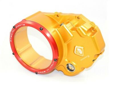 Ducabike Ducati Monster 1200 Clear Clutch Cover - Gold-Red