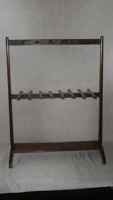 """Antique Solid Wooden Boots And Whips Rack 34"""" x 26"""""""