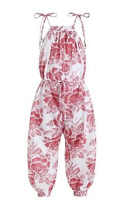 ZIMMERMANN | Sz 8yrs | Girls Roza Gathered Cotton Jumpsuit | Floral