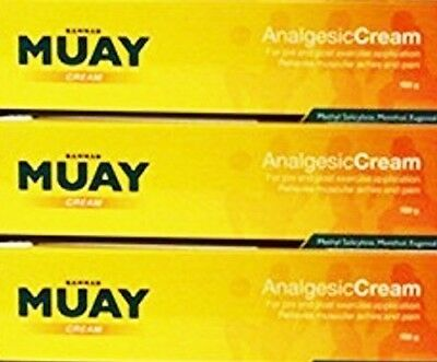 3 x Namman Muay Thai Boxing Balm Cream 100g Analgesic Muscular Pain Relief