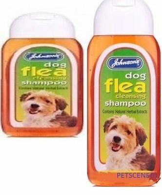 Johnsons Flea Cleansing Shampoo Dog & Puppy 125 ml OR 200ml  all breeds g044
