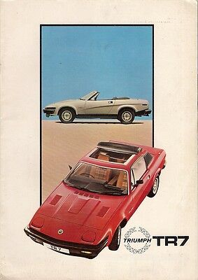 Triumph TR7 1981-82 UK Market Sales Brochure Fixed Head & Drophead