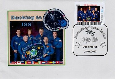Privatpost Space Biberpost 0,60€ Sojus MS-05 Docking Exped. 52 ohne Witson 2017
