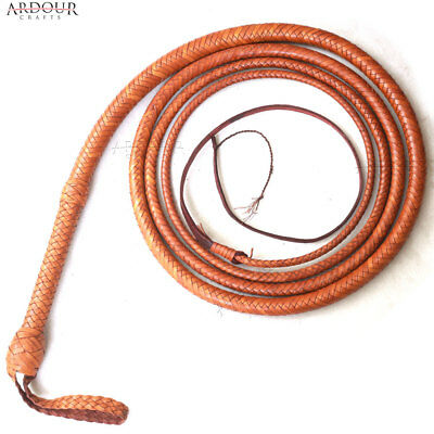 Kangaroo BULL WHIP 06 to 16 Feet, 12 Plaits CUSTOM BULLWHIP Belly and Bolster
