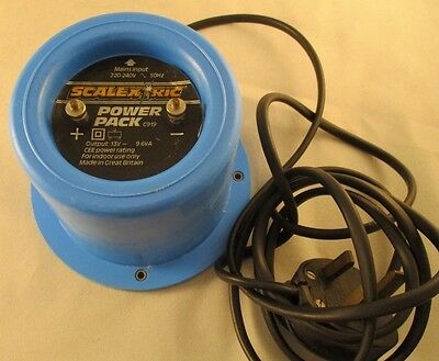 Vintage Scalextric Classic Power Pack Supply C919 Transformer - Blue Round - 12V