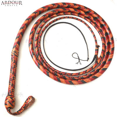 Kangaroo BULL WHIP 06 to 16 Feet, 16 Plaits CUSTOM BULLWHIP Belly and Bolster