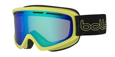Bolle Schuss Ski Goggles Shiny Lime Frame With Emerald Cat 3 Lens - 21482