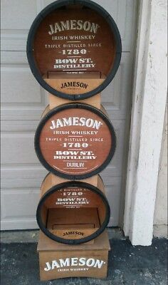 Jameson Whiskey Triple Barrel Store Display. Over 6 Ft. Tall  Rare Find!!