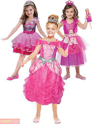 Girls Barbie Princess Fancy Dress Costume Childs Toddler Ballerina Kids Outfit  sc 1 st  PicClick UK & GIRLS BARBIE PRINCESS Fancy Dress Costume Childs Toddler Ballerina ...