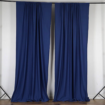 NAVY BLUE 10 x 10 ft Polyester BACKDROP CURTAINS Drapes Panels Home Decorations