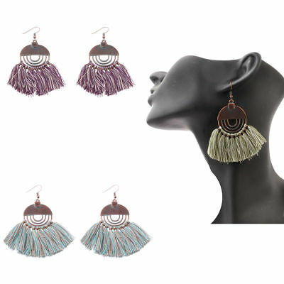 Fashion Bohemian Hollow Vintage Tassel Dangle Women's Charm Earrings Jewellery