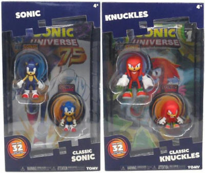 Brand Box Sonic The Hedgehog 25th Anniversary 8cm Figures With Comic Universe