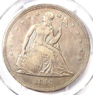 1840 Seated Liberty Silver Dollar $1 - PCGS XF Details - Rare Certified Coin!