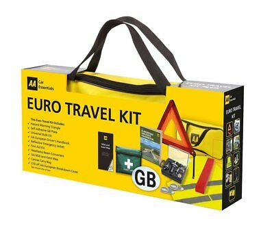 AA EURO TRAVEL KIT inc 9 Items in Bag - Best Selling Kit for Driving in Europe