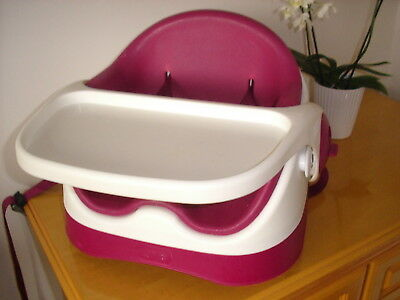 Mamas And Papas Baby Snug Seat, Raspberry Colour, Sliding / Removable Tray. Vgc