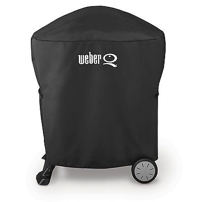 Weber 7113 GRILL COVER WITH STORAGE BAG FOR Q100/1000 & Q200/2000 SERIES W/ CART