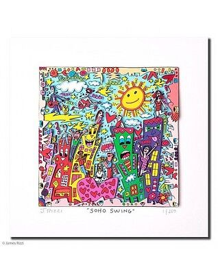 "Original James  Rizzi 3 D Bild ""Soho swing"" Jazz- Serie NEU mit Zertifikat"