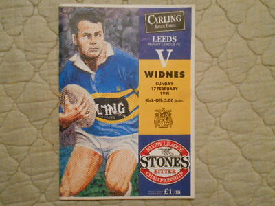 Leeds V Widnes Rugby League Match Programme February 1991